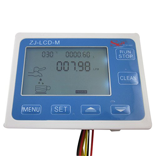 DIGITEN LCD Water Liquid Flow Sensor Digital Display Flowmeter Quantitative Controller