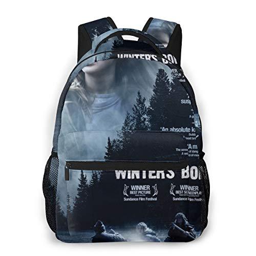 NA Black Hiking Backpack Slim Casual Backpack Winter's Bone Cool Backpacks One Size