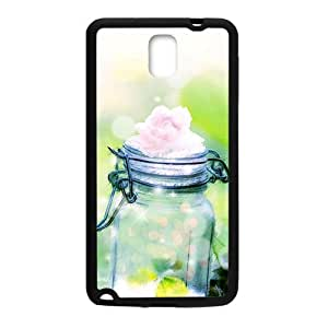 Glam Flower Bottle Personalized Clear Cell Phone Case For Samsung Galaxy Note3