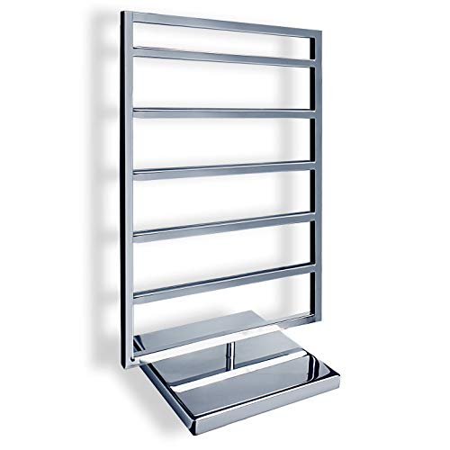 Ed Heart Two-sided Revolving Jewelry Display Stand Organizer with Chrome Silver Finish for Retail Store Large Size - 2 Side Revolving Tower