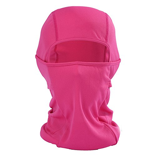 Ezyoutdoor Motorcycle Cycling lycra Balaclava Full Face Mask For Sun UV Protection Balaclava Ski Mask Premium Face Mask (Rose (Dance Costume Suppliers Uk)