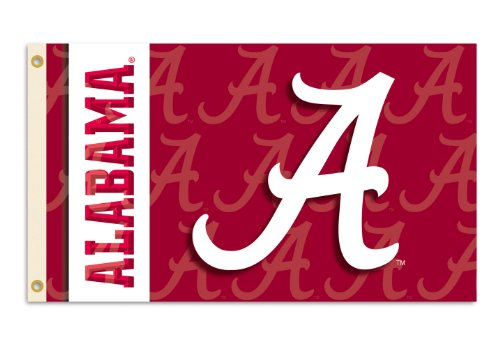 NCAA Alabama Crimson Tide 2-Sided 3-by-5 Foot Flag with Grommets