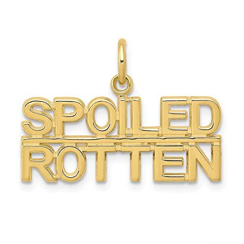 FB Jewels 10K Yellow Gold Talking - Spoiled Rotten Charm