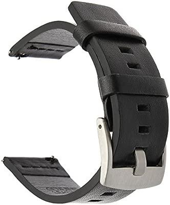 TRUMiRR Gear S3 Frontier/Classic Banda de Reloj, 22mm de Cuero aceitosa Banda de Reloj