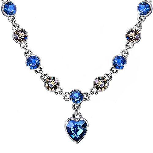 Swarovski Choker - Starshiny Love Heart Necklace Made with Swarovski Elements Crystal Adjustable Choker Necklace Jewelry Gift