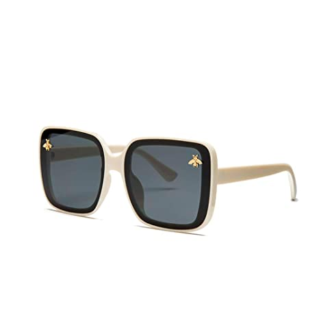 Yangjing-hl Big Box Wild Fashion Gafas de Sol Damas Gafas de ...