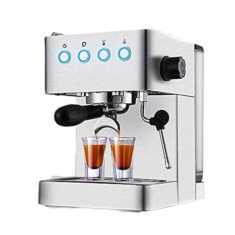 LJHA kafeiji Máquina de café Espresso, máquina de café de Bomba semiautomática doméstica, máquina