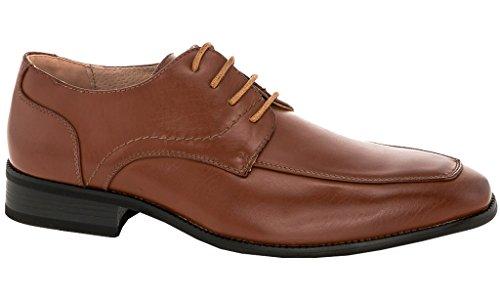 Franco Vanucci Logan Mens Cap-toe Abito Stringate Oxford Scarpe Tan (850001)