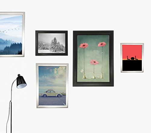oad Easy Open Snap Frame Professional Aluminum Poster Pictures Frame for 23.5x16.5 inches Graphics Wall Mounted w/Non-Glare PVC Lens (Black) ()