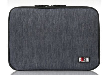 BUBM Travel Gadget Organizer, Portable Ultra Slim Electronics Accessories Bag (Black) for Storing iPad, Kindle, Power Bank, Phone Charger, Charging Cable by BUBM