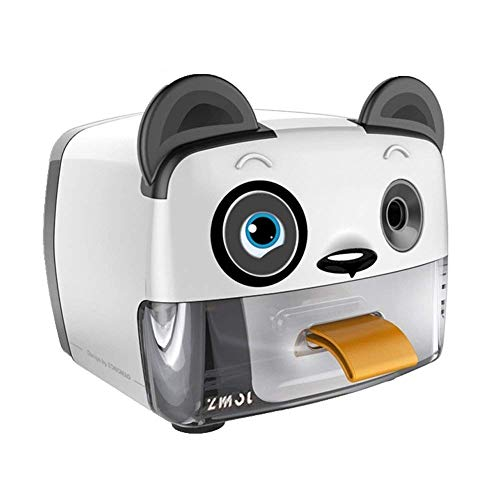 Electric Pencil Sharpener,Heavy Duty Helical Blade Sharpeners Plug in for Kids Artists Classroom Office School,Auto-Stop Feature for No.2 and Colored Pencils (Panda)