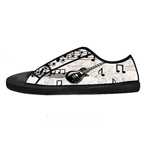 Dalliy Music Note And Guitar Mens Canvas shoes Schuhe Lace-up High-top Sneakers Segeltuchschuhe Leinwand-Schuh-Turnschuhe C