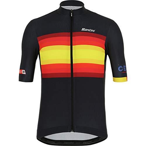(Santini La Vuelta KM Cero Short-Sleeve Jersey - Men's Print, M)