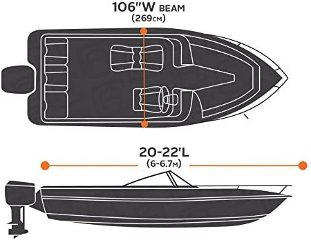 Basics Boat Cover for V-Hull Runabouts and Bass Boats