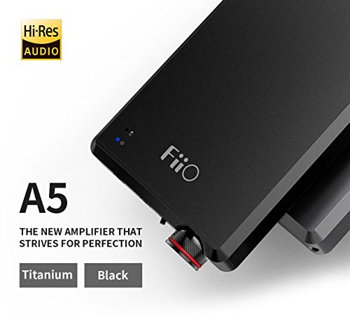 - FiiO A5 Portable Headphone Amplifier, Black