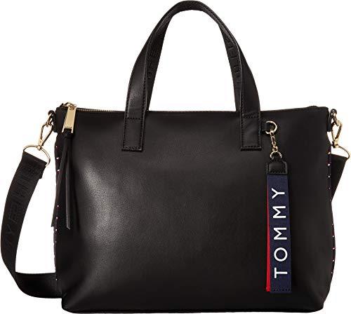 (Tommy Hilfiger Women's Devon Convertible Shopper Black One Size)