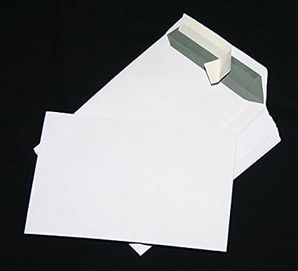 Versandtaschen extra stark 120 gr DIN A4 C4 wei/ß ohne Fenster Kuvert Haftklebend Briefumschl/äge HK 20 St