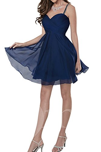 Chiffon La Festlichkleider Promkleider Jugendweihe Kleider mia Brau Blau Navy Ballkleider Abendkleider Kurzes Mini Cocktailkleider wIISqr4