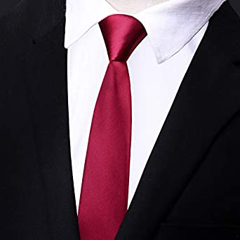 baoyueshangmao Corbatas hombres, corbata roja negra, para tiempo ...
