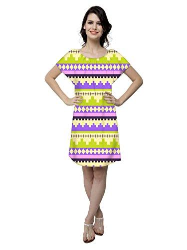 Snoogg Damen Nachthemd Mehrfarbig Mehrfarbig