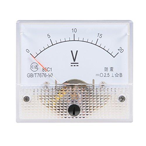 uxcell DC 0-20V Analog Panel Voltage Gauge Volt Meter 85C1 2.5% Error Margin