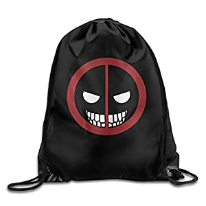 BYDHX Deadpool Merc With A Mouth Logo Drawstring Backpack Bag White