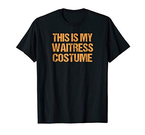 Waitress Halloween Shirt Easy Lazy Last Minute