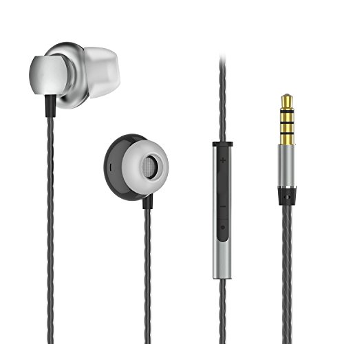 Frizione Headphones, Wired Earbuds, Metal Earphones, Noise Isolating Headset, Stereo Bass Headphone, In Ear Earbuds with Mic