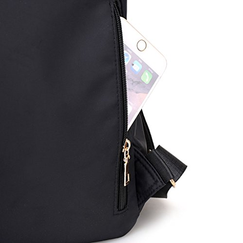 Women JAGENIE Waterproof Gray Nylon Black Backpack UpHTqf