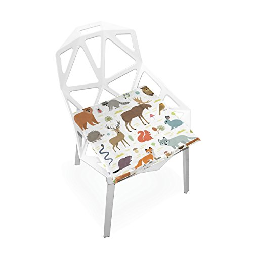 PLAO Soft Cushion Seat Forest Animals Cushions Chair Pad Nonslip Chair Mats Home Decor for Patio Furniture Dining by PLAO