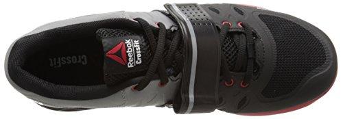 Reebok Men's R Crossfit Lifter 2.0 Training Shoe, Black/Flat Grey/Excellent Red, 13 M US by Reebok (Image #8)