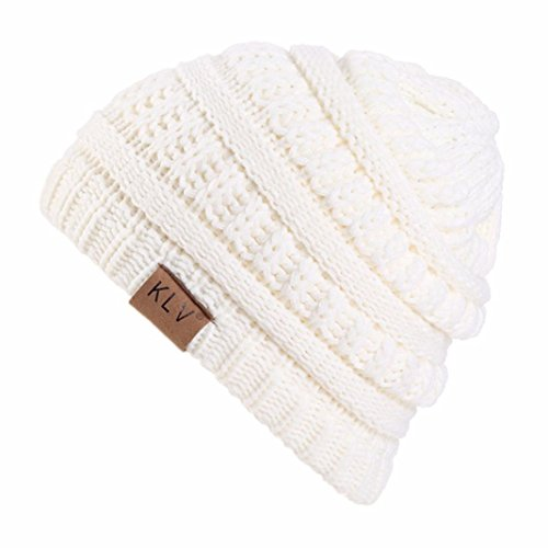 Weiß Hut Häkeln Slouchy Ski Warme Junge Winter Colorful Tm Wolle