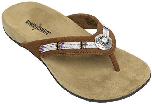 Minnetonka New Women's Minnie Thong Sandal Brown ()
