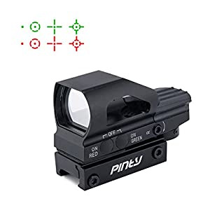 pinty red green dot sight 4 reticles reflex. Black Bedroom Furniture Sets. Home Design Ideas