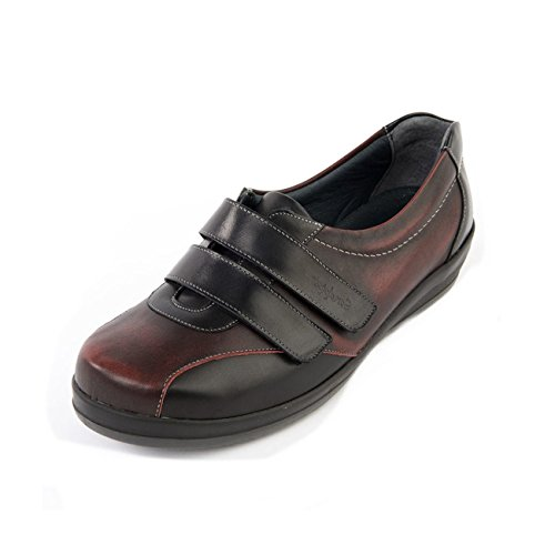 Long 6e Wide 'foscot' Fit Fastening Burgundy Extra amp; 4e Women's Insole Shoe Soft Touch Removable Black Twin Super Sandpiper 0wCn8qpE