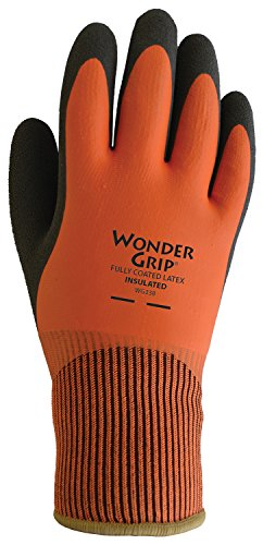 Boss Insulated Rubber Glove - Wonder Grip WG338XXL Insulated Double-Dipped Incredibly Comfortable Work Gloves Latex Coated Water Resistance Black Palm, XX-Large XX-Large