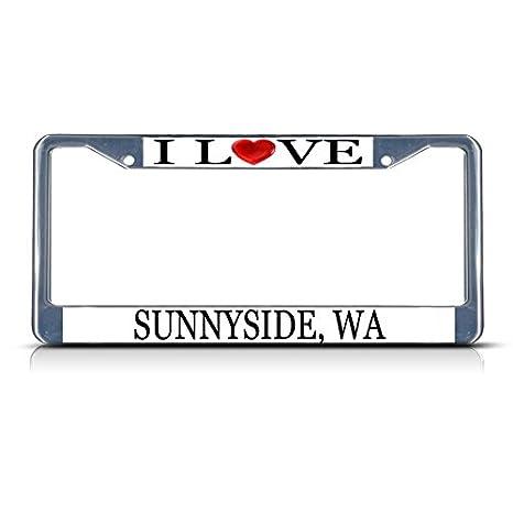 Sunnyside Wa Weather >> Amazon Com Sign Destination Metal License Plate Frame Solid