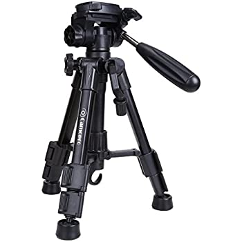 Mini Tripod - Camopro Portable Desktop Mini Tabletop Tripod for SLR, DSLR Camera, Phones, Spotting Scope and Camcorder with 3-Way Head, Quick Release Plate and Carrying Bag