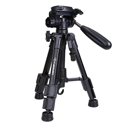 Mini Tripod - Camopro Portable Desktop Mini Tabletop Tripod for SLR DSLR Camera iPhones Smartphones Spotting Scope Binoculars and Camcorder with 3-Way Head, Quick Release Plate and Carrying (Desktop Tripod)