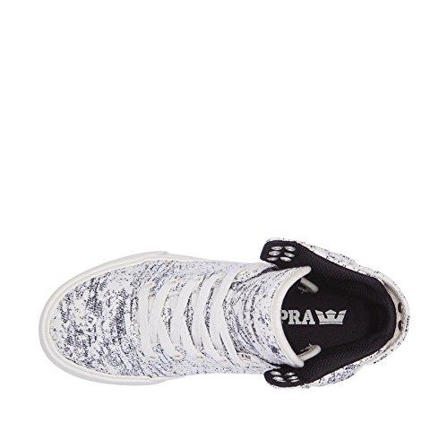 Supra Skytop Donne Sneaker Bianco / Nero / Tessuto