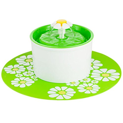 Automatic Feeder Drinking Pets Bowl Water For Cat Dog (Green) - 9
