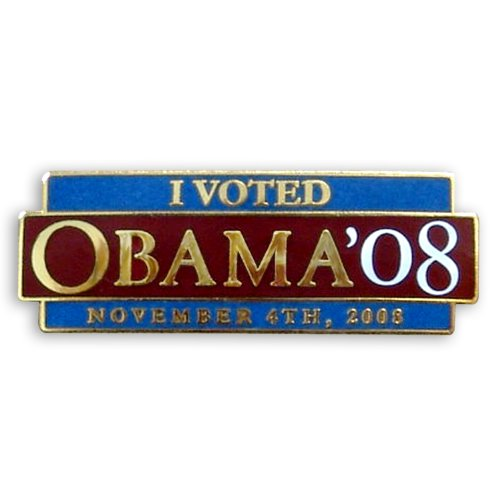 Barack Obama Lapel Pin - I Voted Obama 08
