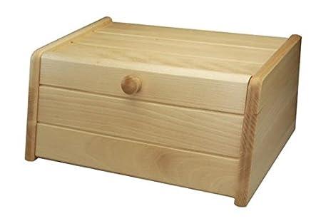 Wooden Bread Bin Kitchen Food Bread Pita Storage Box Bins Holder Rack