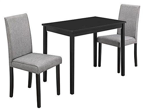 Monarch Specialties I 1016, Dining Set Set, Parson Chairs, Black/Grey, 3pcs ()