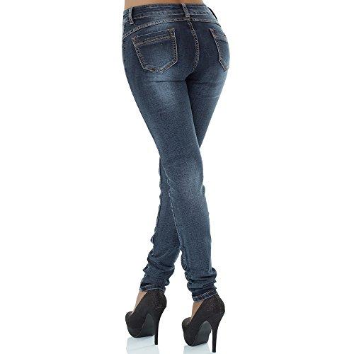 malucas mujer para Azul skinny Vaqueros rqt4r