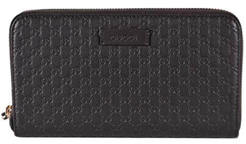 Gucci Women's Brown Leather GG Guccissima Zip Around Wallet