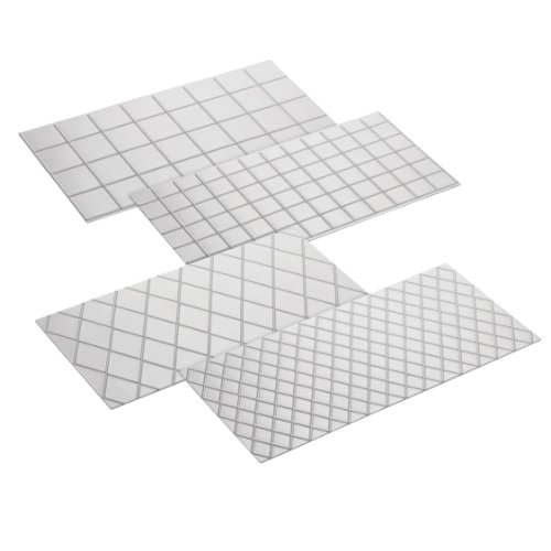 Cake Boss Decorating Tools 4-Piece Quilted Fondant Imprint Mat Set, Clear
