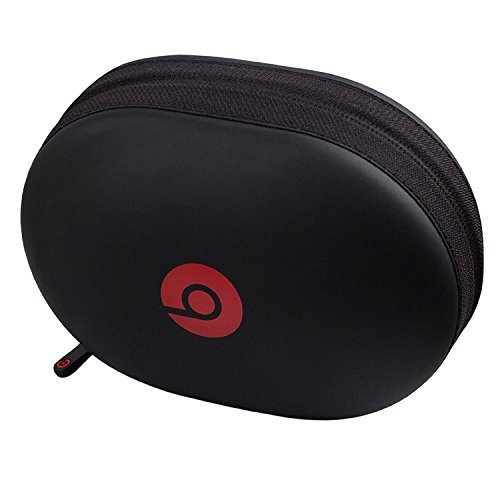 Tzou Matte Zipper Earphones Carrying Case for Beats Monster by Dr.Dre Studio, Solo Wireless, Solo, Solo HD Over-ear Headphone Replacement Case Pouch Bag Box