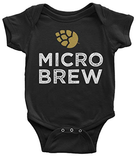 Threadrock Add-On Micro Brew Infant Bodysuit 24 Months Black