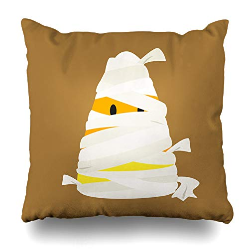 Kutita Decorativepillows Covers 16 x 16 inch Throw Pillow Covers,Candy Halloween Mummy Art Cartoon Cute Funny Happy Holiday Monster Pattern Double-Sided Decorative Home Decor Pillowcase -